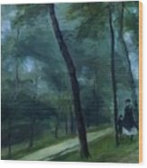 A Walk In The Woods Madame Lecoeur And Her Children 1870 Wood Print