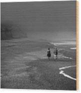 A Walk Wood Print