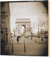 A Walk Through Paris 3 Wood Print