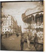 A Walk Through Paris 4 Wood Print