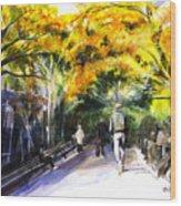 A Walk Through The Park Wood Print