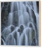 A Waterfall In Iceland Wood Print