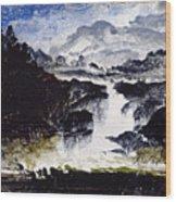 A Waterfall Wood Print
