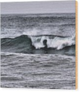A Wave On The Ocean Wood Print
