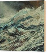 A Wave Wood Print