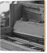 A Weathered Piano Wood Print