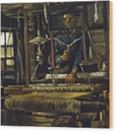 A Weavers Cottage Wood Print