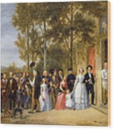 A Wedding At The Coeur Volant Wood Print