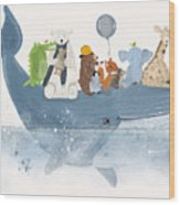A Whale Of A Time  Wood Print