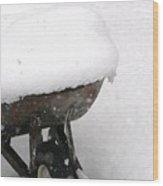 A Wheel Barrel Of Snow Wood Print