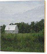 A White Barn In Missouri Wood Print