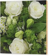A White Roses Bouquet For You Wood Print