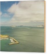 A Wide View Of San Francisco Bay Looking Toward The City And Alc Wood Print