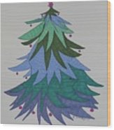 A Wild Christmas Tree Wood Print