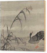 A Wild Goose Wood Print