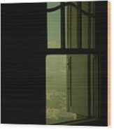A Window Out To The Sea Wood Print