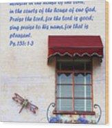 A Window Ps. 135 V 1-3 Wood Print