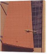 A Window With Shutter, Tortola Wood Print