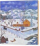 A Winter Evening Wood Print