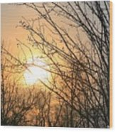 A Winter's Day After Glow Wood Print