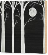 A Winters Night Wood Print