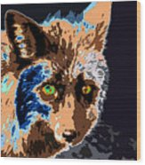 A Wolf Staring Wood Print