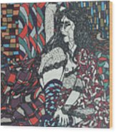 A Woman Between Prints Wood Print