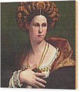 A Woman Wood Print