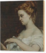 A Woman With Jewellery Wood Print