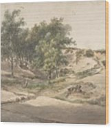 A Wooded Landscape Near Beekhuizen Wood Print