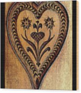 A Wooden Heart Wood Print