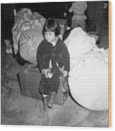 A Young Evacuee Of Japanese Ancestry Wood Print by Stocktrek Images