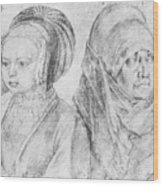 A Young Girl Of Cologne And Dbcrer Wife 1520 Wood Print