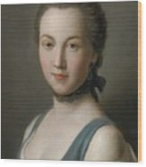 A Young Lady Wood Print
