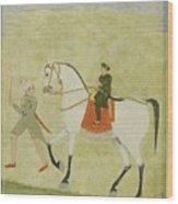 A Young Prince On Horseback Wood Print