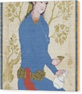 A Youth With Bottle And Cup Wood Print