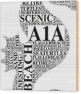 A1A Wood Print