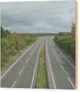 A27 Dual Carriageway Totally Clear Of Traffic. Wood Print