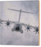 A400m Airbus Cloud Wood Print