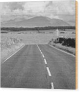 A4080 Rural A Road Through Rural Anglesey North Wales Uk Wood Print