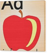 Aa Is For Apple Wood Print