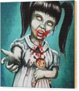 Aaarrgg Thats Zombie Talk For Mommy Wood Print by Al  Molina
