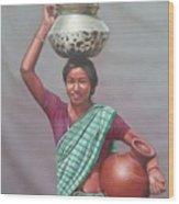 Aadibasi Wood Print
