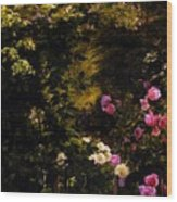 Aagaard Carl Frederick The Rose Garden Wood Print