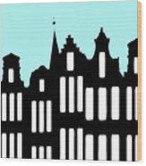 Aan De Amsterdamse Grachten - On The Amsterdam Canals Wood Print
