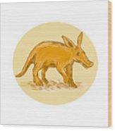 Aardvark African Ant Bear Drawing Wood Print