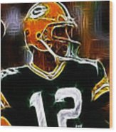 Aaron Rodgers - Green Bay Packers Wood Print