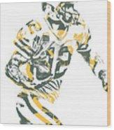 Aaron Rodgers Green Bay Packers Pixel Art 22 Wood Print