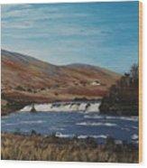 Aasleagh Falls Wood Print