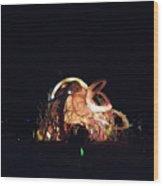 Ab Artwork At Night Wood Print
